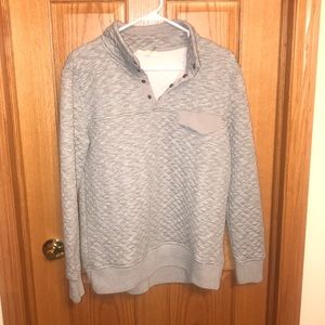 Entro quilted 1/4 button up sweater/ sweatshirt